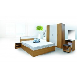 Dallas Bedroom Set 150x190 cm Beech/White