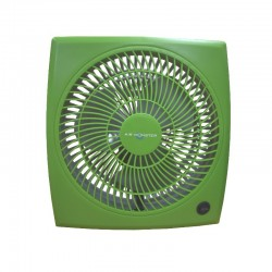 "Air Monster 15729 9"" Green Personal Fan"