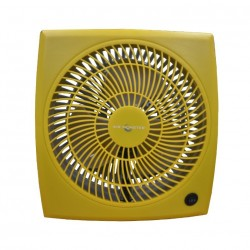 "Air Monster 15729 9"" Yellow Personal Fan"