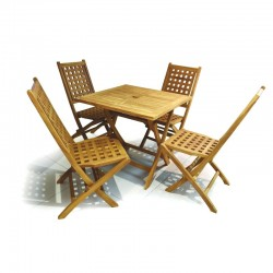 Toronto Table and 4 Chairs Teak Wood