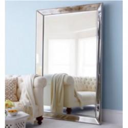 Floor Mirror In MDF Silver Finish L180xW90 cm