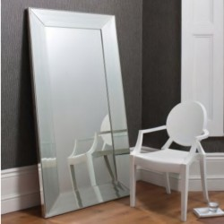 Floor Mirror In MDF Silver Finish L180xW90 cm
