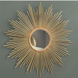 Wall Mirror in Metal Silver Colour L90xW90 cm