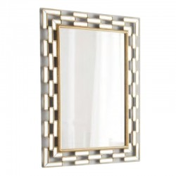 Wall Mirror In MDF Silver Finish L120xW80