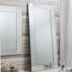 Floor Mirror In MDF & Silver Finish L80xW180 cm