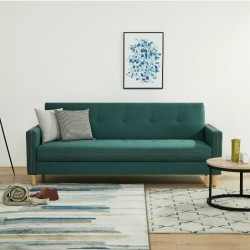 Opal Sofa Bed D.Green Fabric