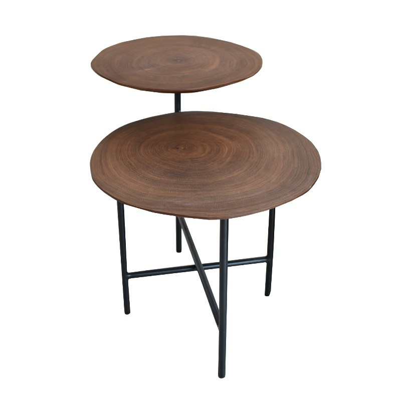 Coffee Table Walnut Top, Black Legs