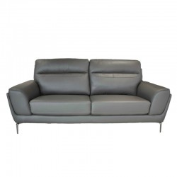 Molly 3 Seater Leather+PVC Mocha Color