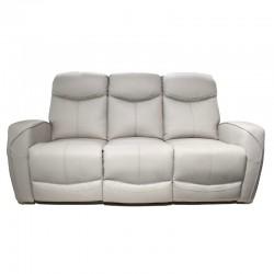 Rita Sofa 3 Seater Leather+PVC Cement Color