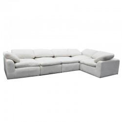 Aissance Modular Sofa+Armless Chair Ivory