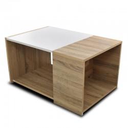 Mars Coffee Table Grey Oak/White