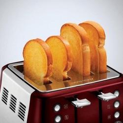 Morphy Richards 240108 4slice Evoke Red Ss Toaster