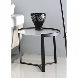 Lynx Side Table Metal & Glass top