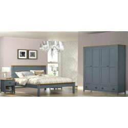 Topazio Bedroom Set 160x200cm S.Wood Grey