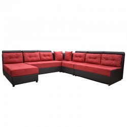 Alton Sofa Corner Fabric Red