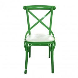 Flavia Chair Green Colour Seat