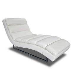 Russo Chaise White Leather Gel